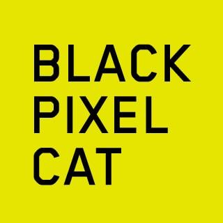 Black Pixel Cat